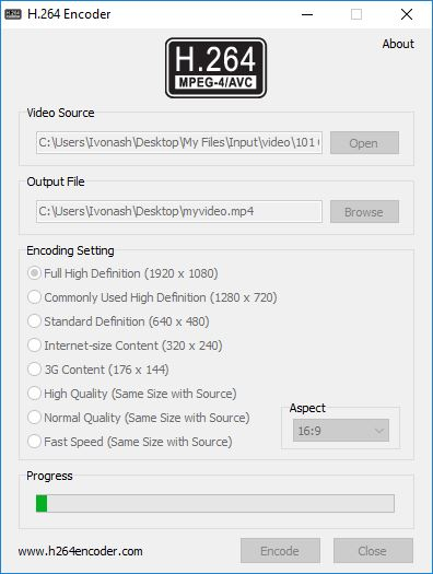 Encoding Video File