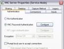 VNC server options