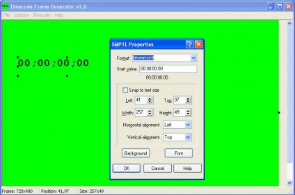Timecode Frame Generator Download - This utility allows you to