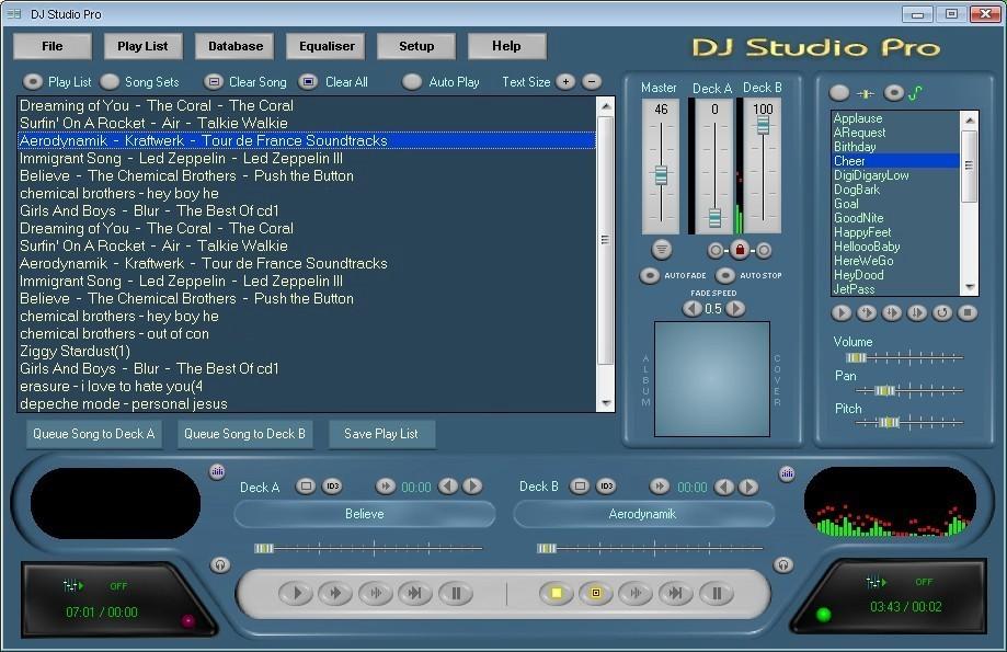 DJ Studio Pro Main Screen