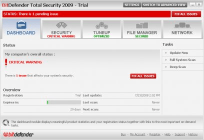 BitDefender Total Security Download - Fully protected if we