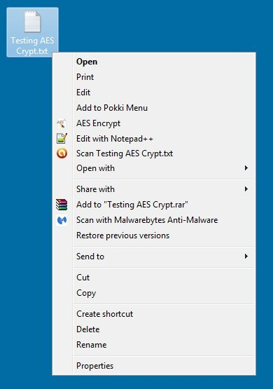 AES Crypt Download - Very simple file encryption application