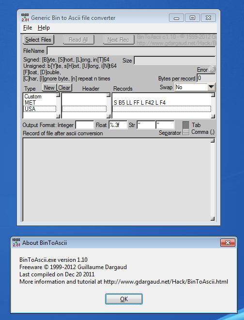 BinToAscii Download - This program is a simple generic