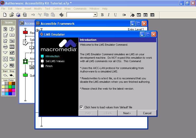 LSM emulator command info