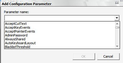 Add a configuration option to a remote server