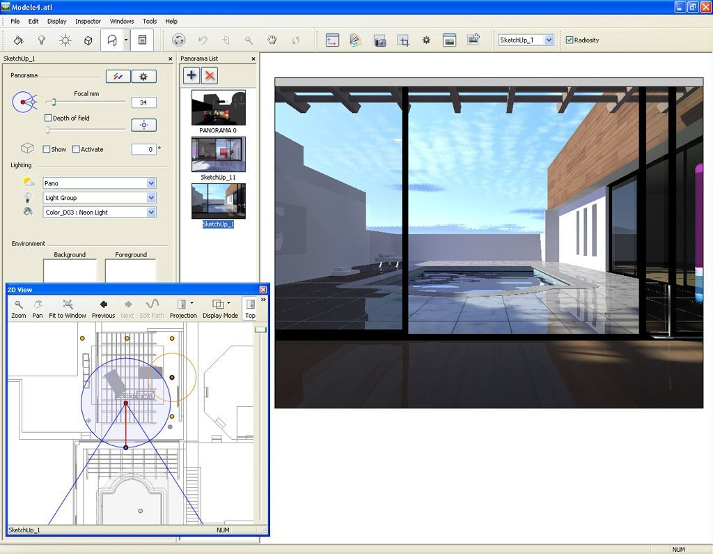 Panorama creation