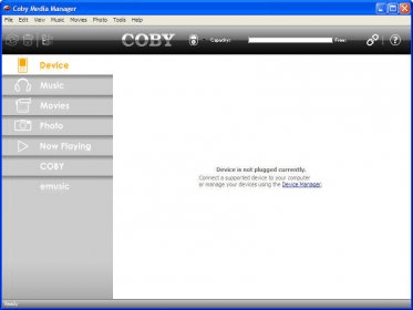 coby media manager mp620