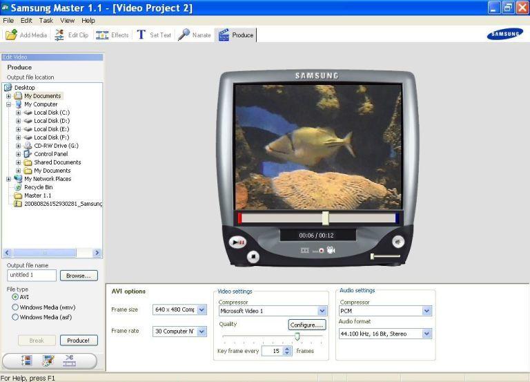 Video Editor Window