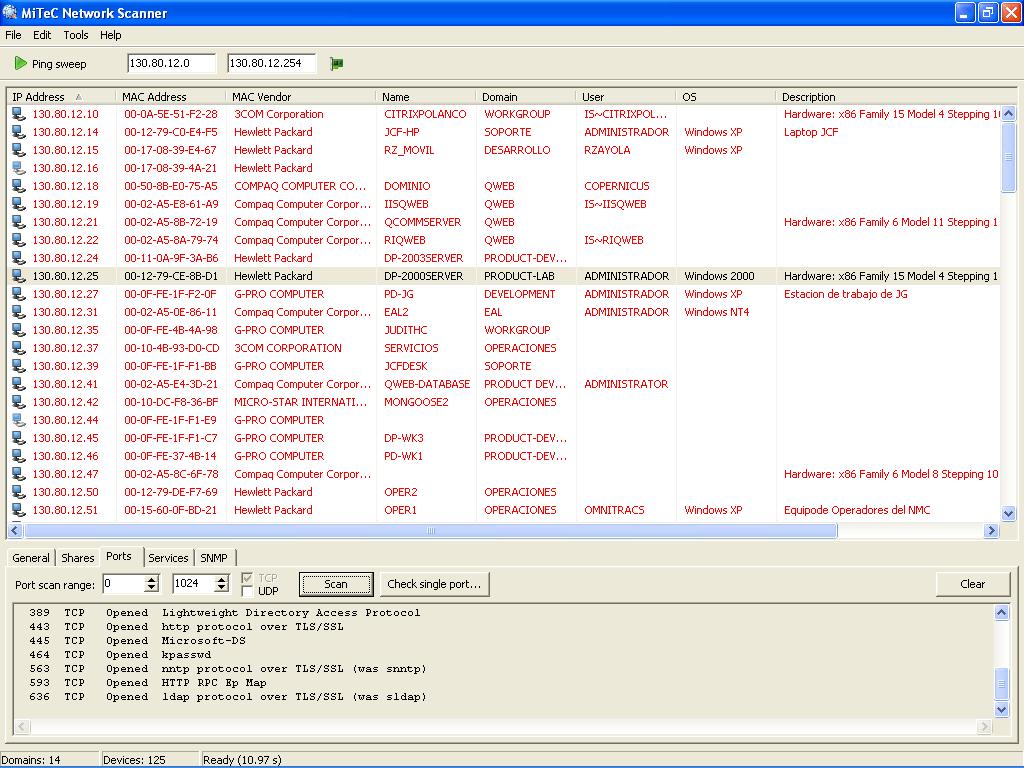 Network Scanner Port Scan