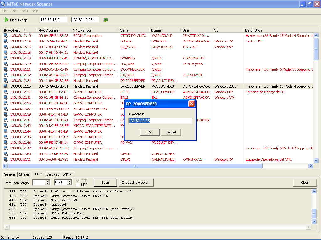 Network Scanner Detect IP from Host name tool
