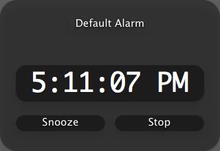 Sample alarm output