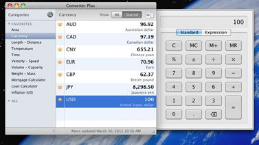 Currency converter and simple calculator