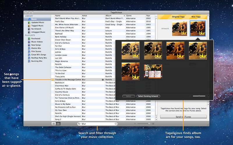 Tagalicious screenshot