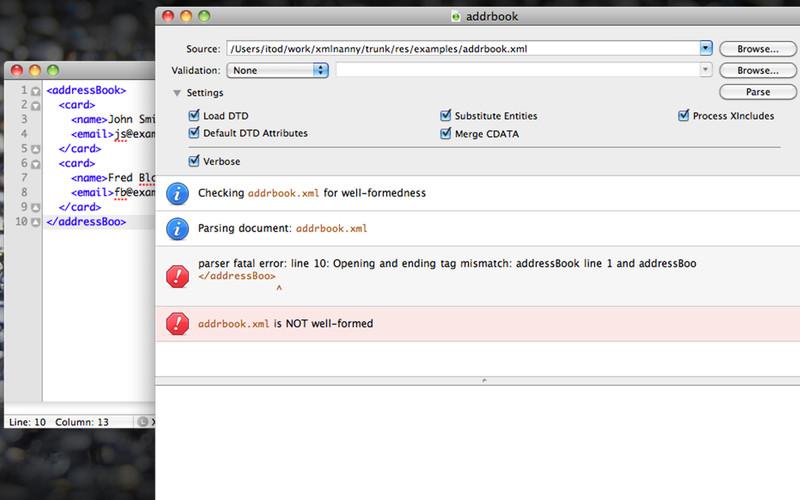 XML Nanny screenshot