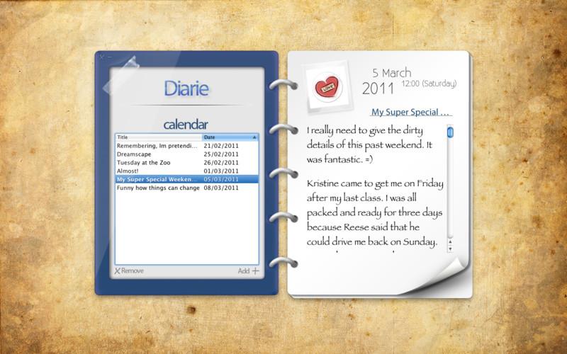 Diarie screenshot