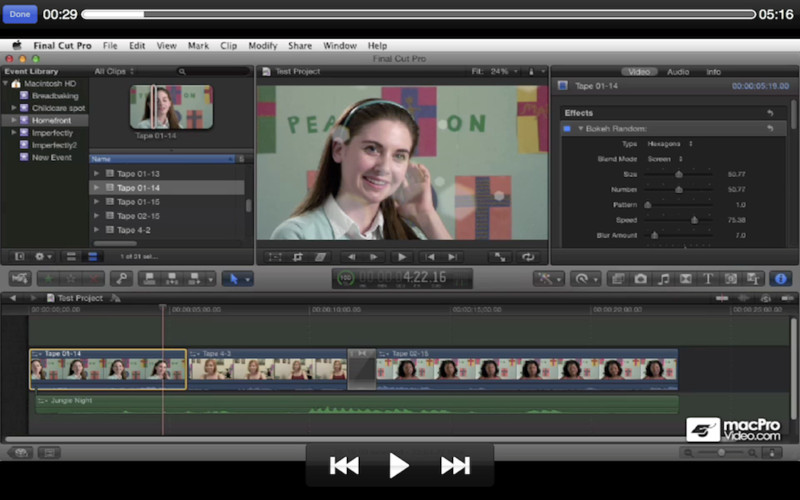 Course For Final Cut Pro X 101 - Overview and Quick Start Guide screenshot