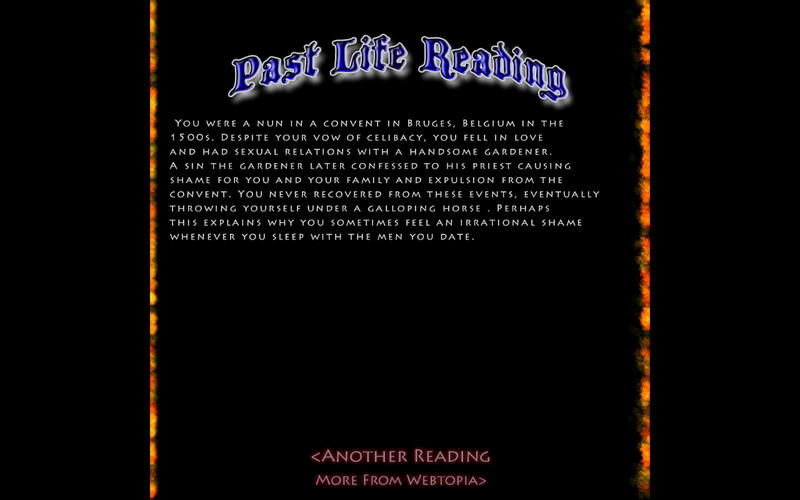 Past and Future Life Readings screenshot