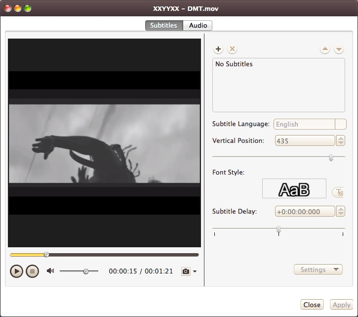 Configuring Subtitle Settings