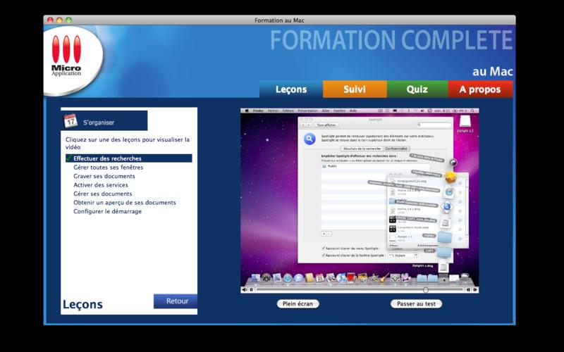 Formation complète au Mac screenshot