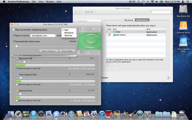 Disk Alarm screenshot