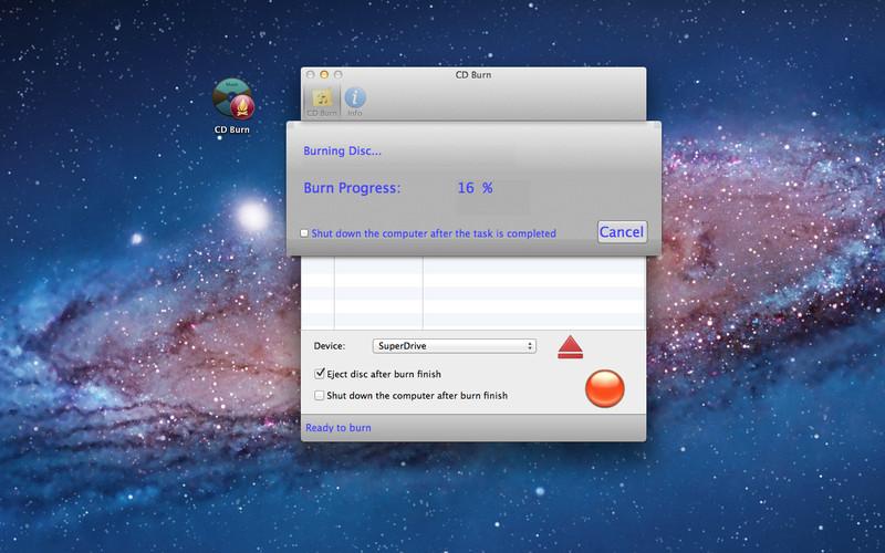 CD Burn screenshot