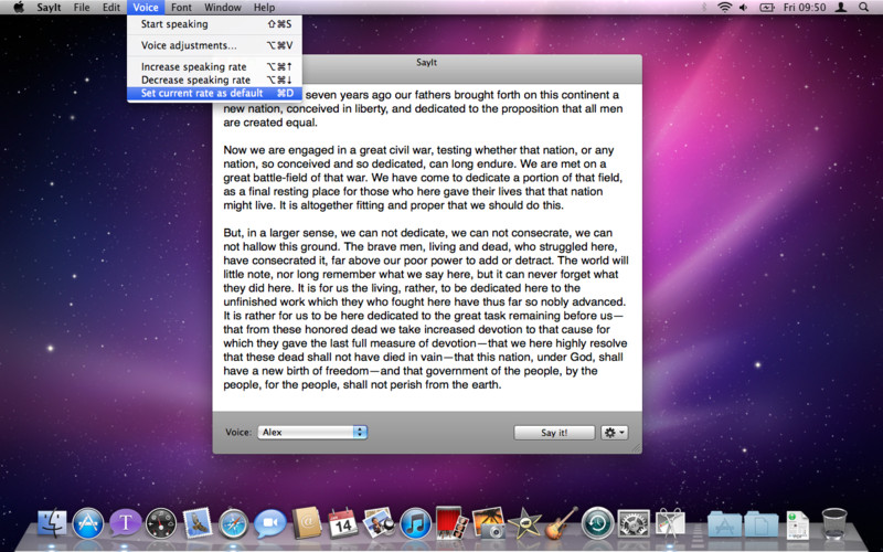 SayIt - Text to Speech Utility screenshot