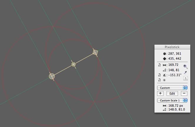 Distance and angle desktop measurements
