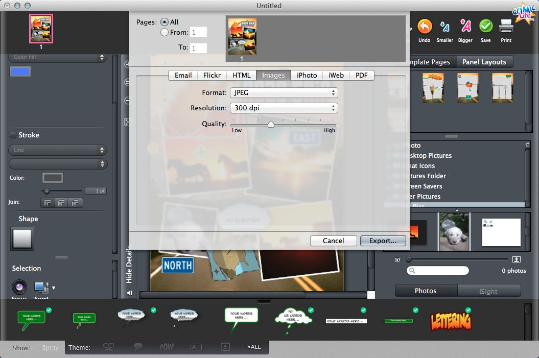 Exporting Result