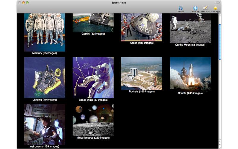 Space Flight Photos screenshot