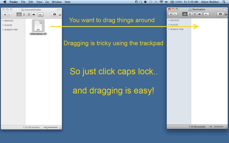 Click and Drag screenshot