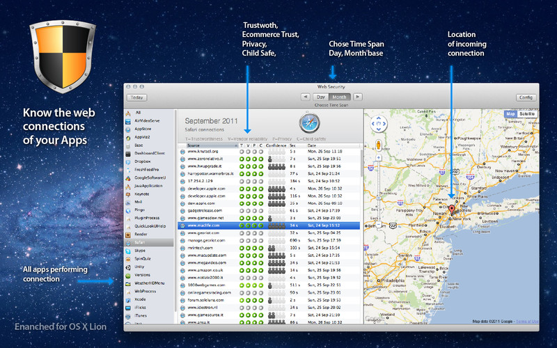 Web Security - Monitor your Apps Connections screenshot