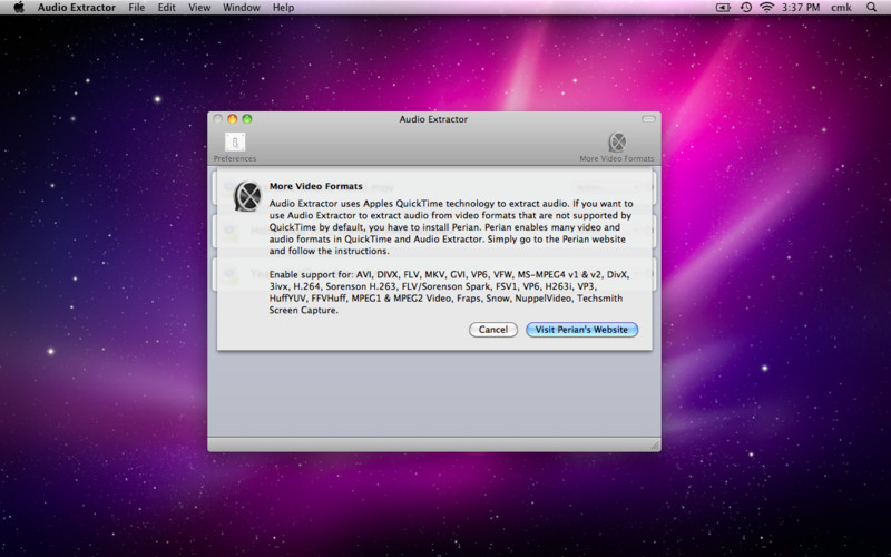 Audio Extractor screenshot