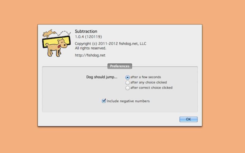 Subtraction screenshot
