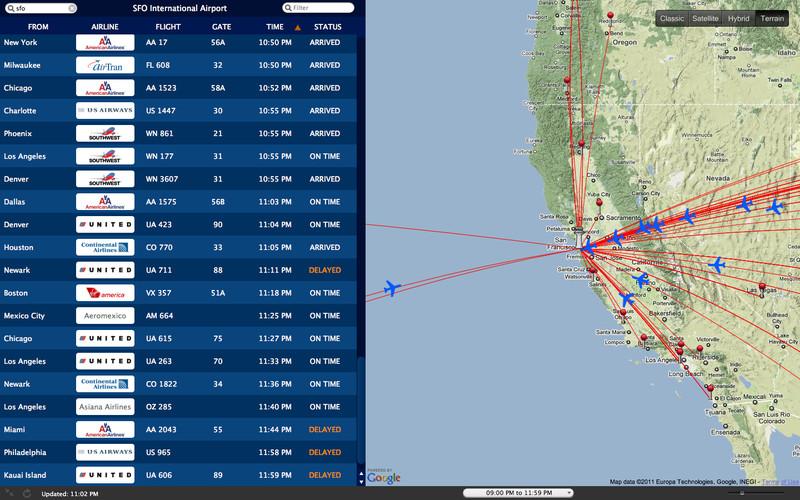 Arrivals & Departures screenshot
