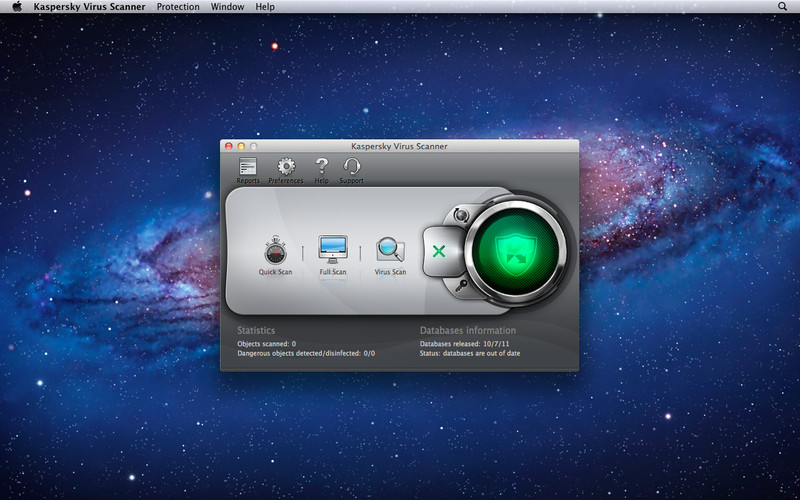 Kaspersky Virus Scanner screenshot