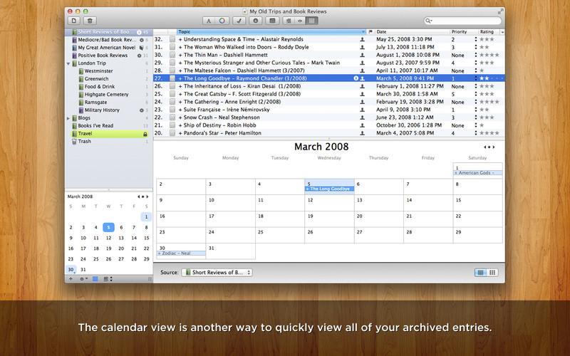 MacJournal screenshot