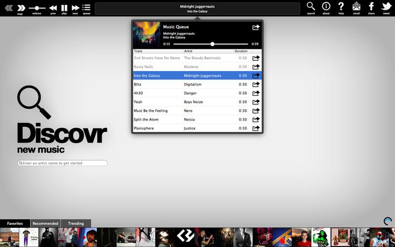 Discovr Music - discover new music screenshot