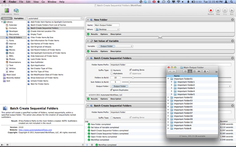 File and Folder Automator Action Pack screenshot