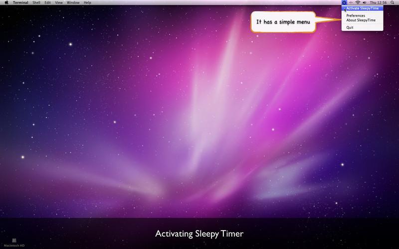 SleepyTimer screenshot