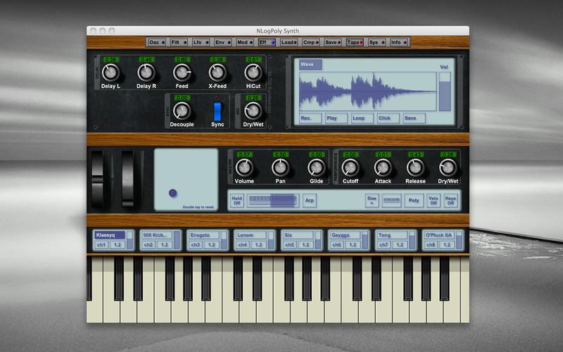NLogPoly Synth screenshot