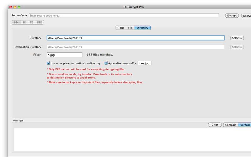 TX Encrypt Pro screenshot