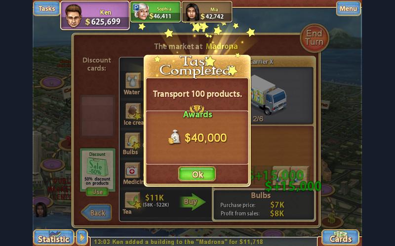 Trade Mania Free screenshot