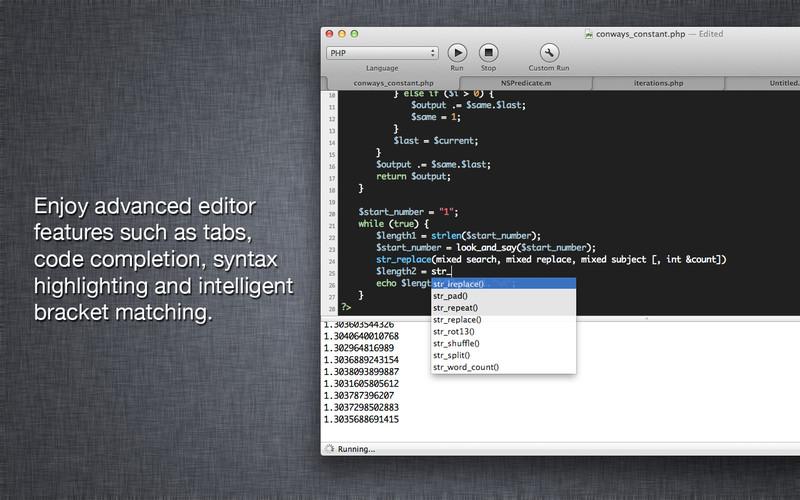 CodeRunner screenshot