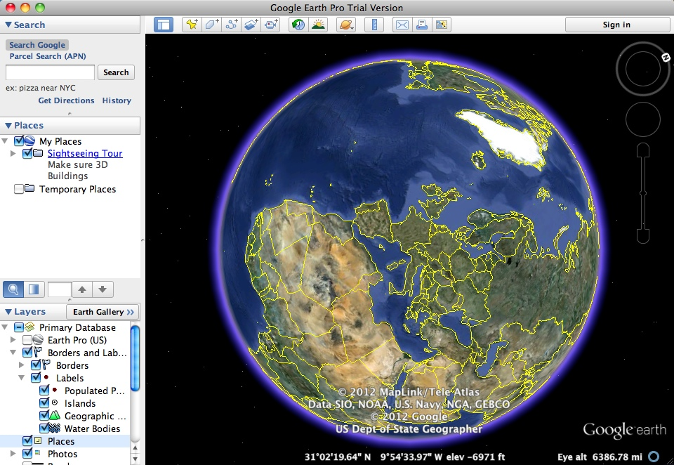 Download free Google Earth Pro for macOS