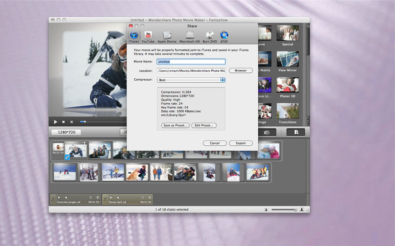 Photo Movie Maker - Fantashow screenshot