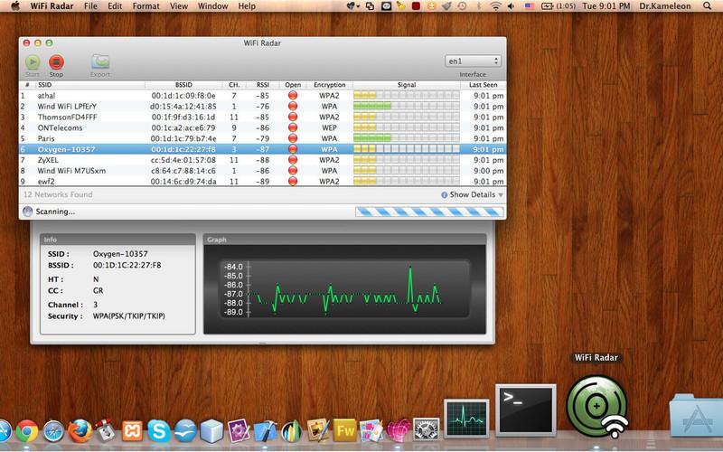 WiFi Radar screenshot