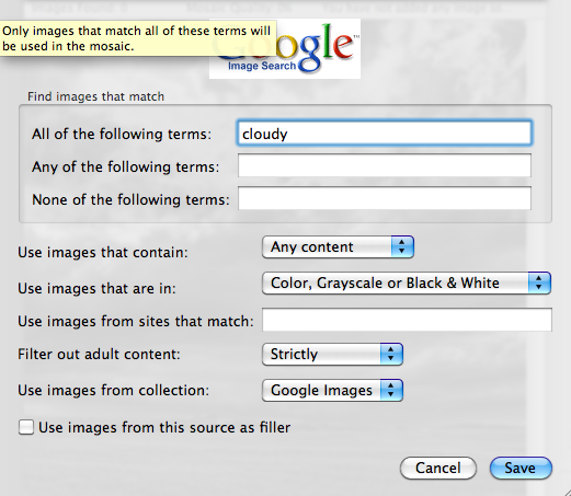 Use Images from Google Search
