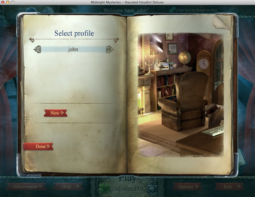 Selecting Player Profile
