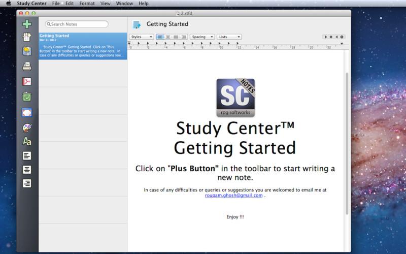 Study Center screenshot