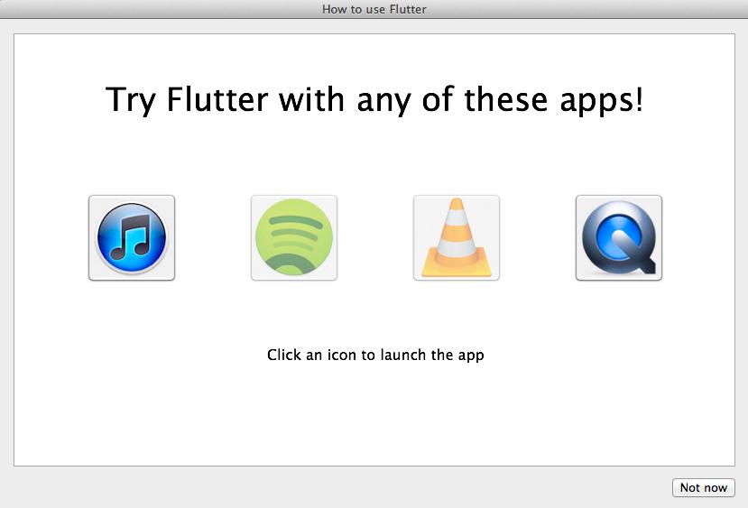 Application Selection Window